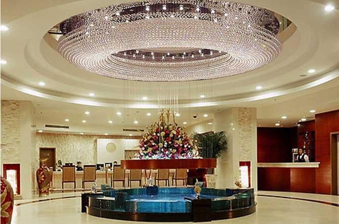 豪华别墅客厅灯k9水晶灯吊灯酒店工程灯圆形吸顶灯