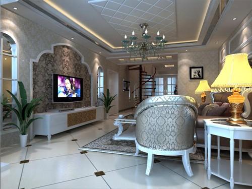 欧式风格客厅_西宁艺术玻璃_青海万创顺装饰设计有限